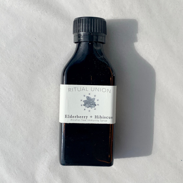Elderberry + Hibiscus Syrup : Alcohol-free Immunity Syrup